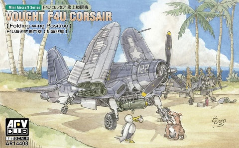 AFV Club Aircraft 1/144 F4U Corsair Fighter (Folding-Wing) (Update Tooling) Kit