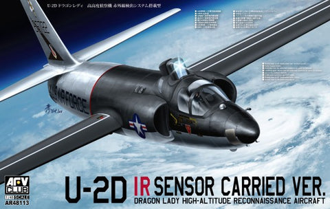 AFV Club Aircraft 1/48 U2D IR Sensor Carried Ver Dragon Lady High Altitude Recon Aircraft Kit