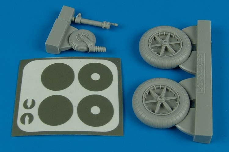 Aires Hobby Details 1/32 Bf109F Wheels & Paint Masks For TSM