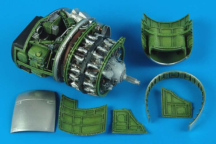 Aires Hobby Details 1/32 P47D Engine Set For HSG