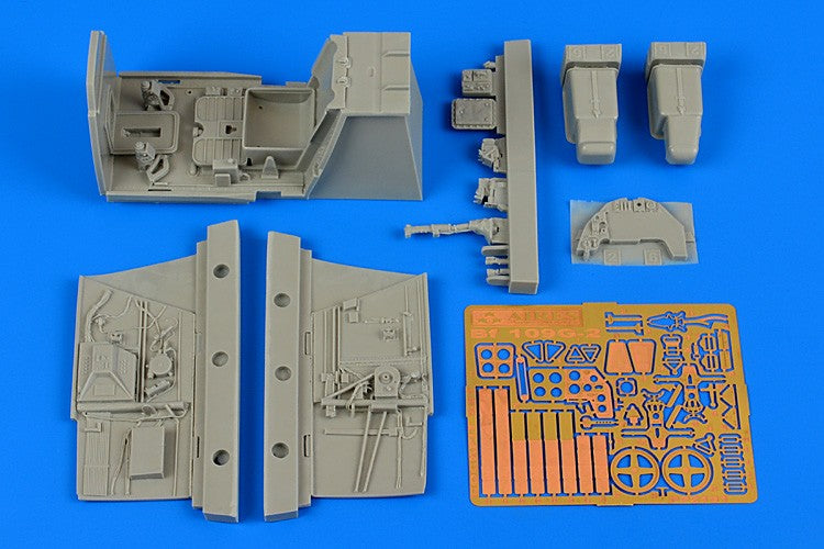 Aires Hobby Details 1/32 Bf09G2 Cockpit Set For RVL