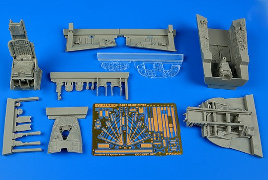 Aires Hobby Details 1/32 F104G/S Starfighter Cockpit Set (C2 Seat) For ITA
