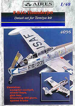 Aires Hobby Details 1/48 F84G Thunderjet Detail Set For TAM