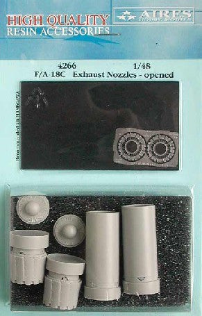Aires Hobby Details 1/48 F/A18C Exhaust Nozzles Opened For HSG