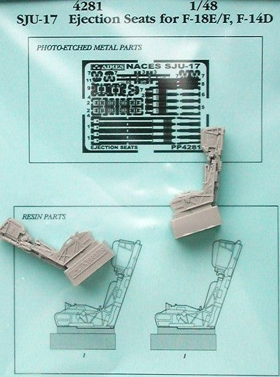 Aires Hobby Details 1/48 F/A18E/F, F14D SJU17 Ejection Seats