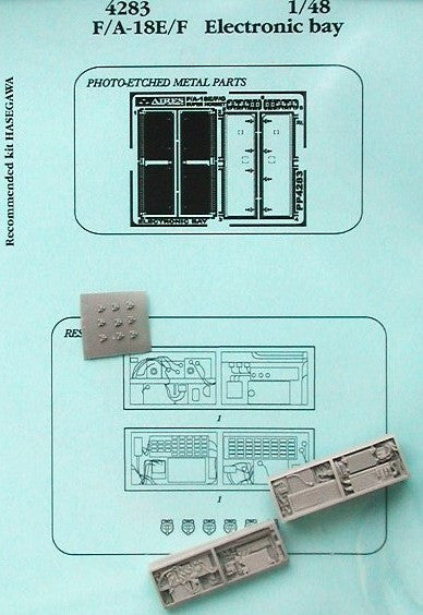 Aires Hobby Details 1/48 F/A18E/F Electronic Bay For HSG