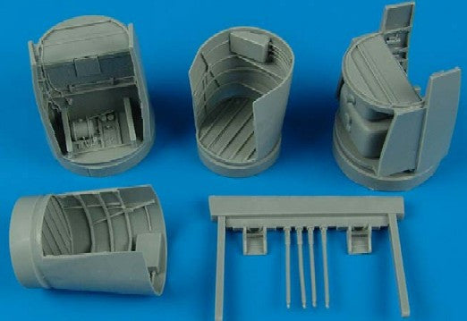 Aires Hobby Details 1/48 He219A7 Main Wheel Bays For TAM (Resin)