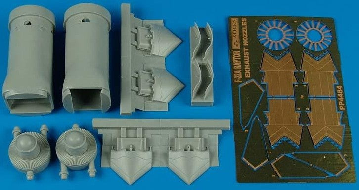 Aires Hobby Details 1/48 F22A Exhaust Nozzles Opened For HSG