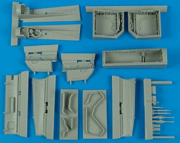 Aires Hobby Details 1/48 Su27 Flanker Wheel Bay For ACY (Resin)