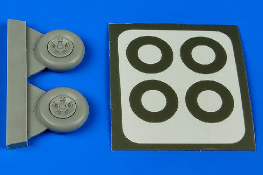 Aires Hobby Details 1/48 Spitfire Mk V Wheels (5-Spoke) & Paint Masks