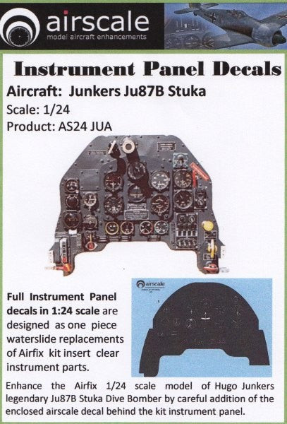 Airscale Details 1/24 Junkers Ju87 Stuka Instrument Panel (Decal)