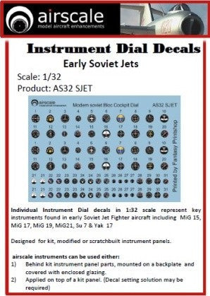 Airscale 1//32 WWII USAAF Instruments Decals