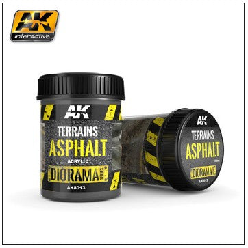 AK Interactive Diorama Series: Terrains Asphalt Texture Acrylic 250ml Bottle