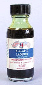 Alclad II 1oz. Bottle Transparent Yellow Lacquer