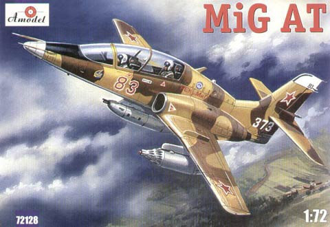 A Model From Russia 1/72 Mig-AT Late Russian Modern 2-Seater Trainer Aircraft Kit