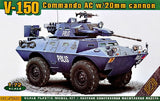 Ace Military 1/72 V150 Commando AC Armored Personnel Carrier w/20mm Gun Kit