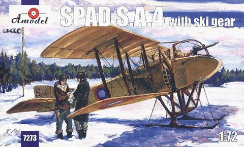 A Model From Russia 1/72 SPAD SA4 WWI BiPlane Fighter w/Skis Kit