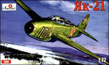 A Model From Russia 1/72 Yak21 Soviet Jet Fighter Kit