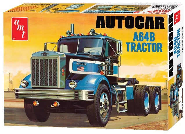 AMT Model Cars 1/25 Autocar A64B Semi Tractor Cab Kit
