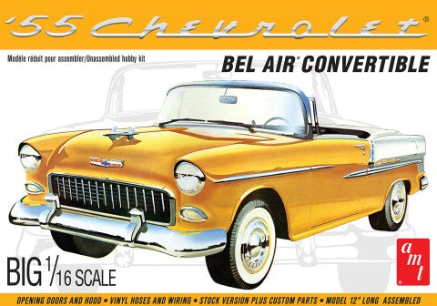 AMT Model Cars 1/16 1955 Chevy Bel Air Convertible Kit