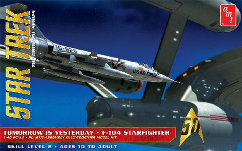 AMT Sci-Fi Models 1/48 Star Trek Original Series Tomorrow is Yesterday F104 Starfighter  Kit