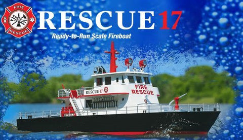 AquaCraft Boats Rescue 17 Fireboat 2.4GHz TTX491 RTR