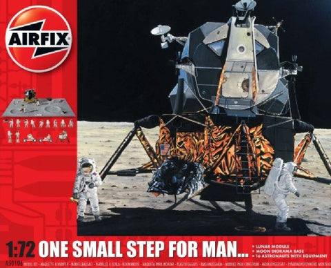 Airfix Space 1/72 Apollo Lunar Descent & Ascent Stages Gift Set w/Paint & Glue (Re-Issue) Kit