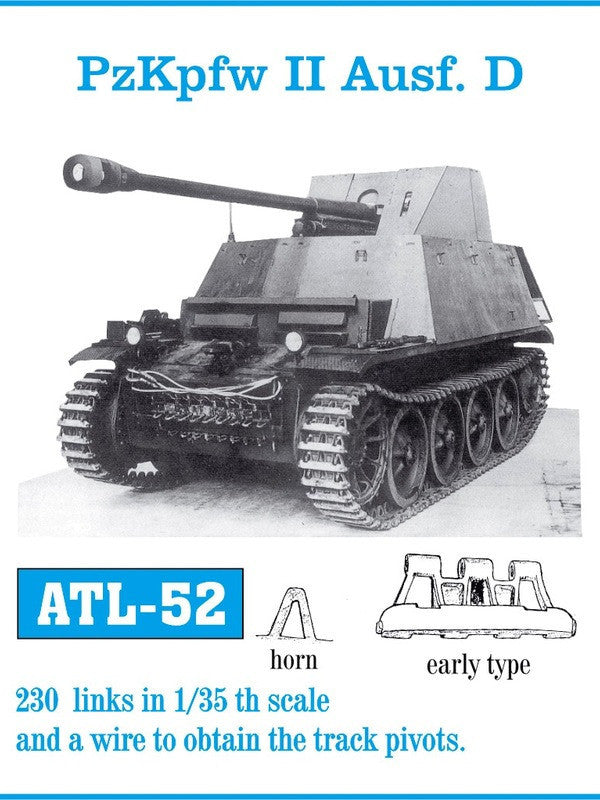 Friulmodel Military 1/35 PzKpfw II Ausf D Early Track Set (230 Links)
