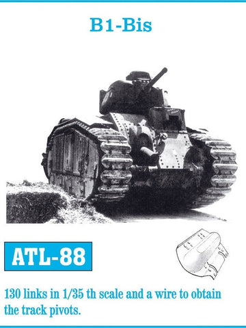 Friulmodel Military 1/35 B1 Bis Track Set (130 Links)