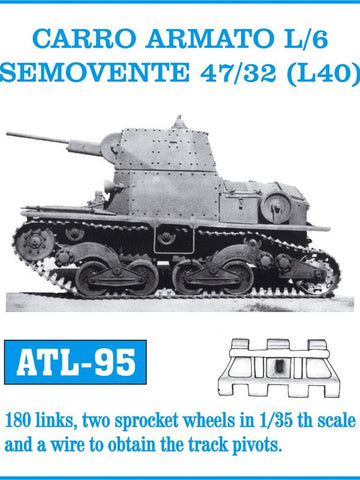 Friulmodel Military 1/35 Carro Armato L/6 Semovente 47/32 (L40) Track Set (180 Links)