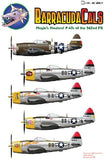 Barracuda Studios 1/48 Mogin's Maulers! P47s of the 362nd FG (Decal)