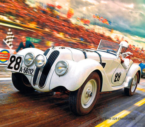 Heller Model Cars 1/24 BMW 328 Endurance Race Car Kit