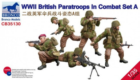 Bronco Military 1/35 WWII British Paratroops in Combat Set A (5) Kit