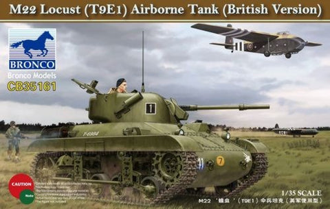 Bronco Military 1/35 British M22 Lucust T9E1 Airborne Tank Kit