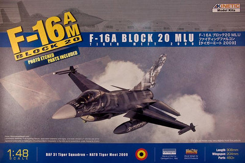 Kinetic Aircraft 1/48 F-16A TigerMeet 2009 (DACO Decal Design) Kit