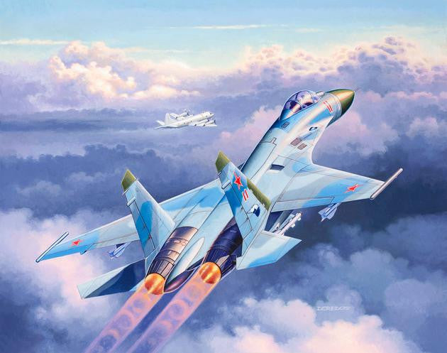 Revell Germany Aircraft 1/144 Su27 Flanker Fighter Kit
