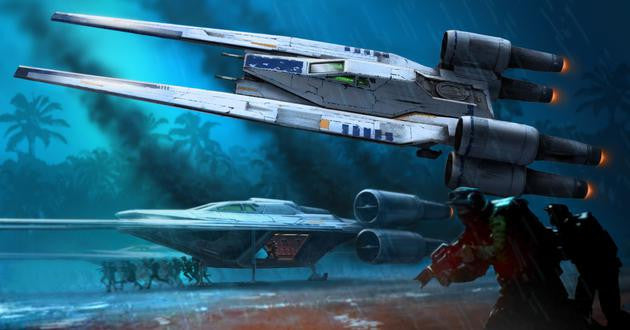 Revell-Monogram Sci-Fi Star Wars Rogue One: Rebel U-Wing Fighter w/Sound Build & Play Snap Kit
