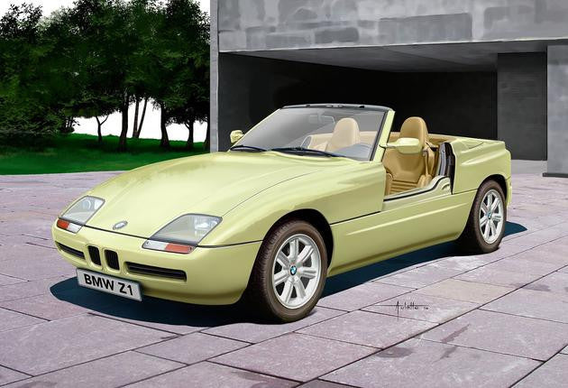Revell Germany Model Cars 1/24 BMW Z1 Convertible Car Kit