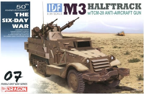 Dragon Military Models 1/35 IDF M3 Halftrack w/TCM20 Anti-Aircraft Gun Smart Kit