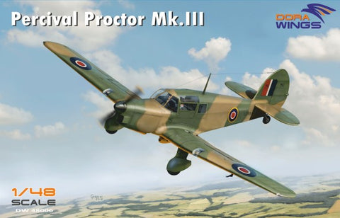 Dora Wings 1/48 Percival Proctor Mk III British Radio Trainer Aircraft (New Tool) Kit