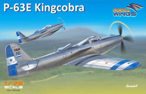 Dora Wings 1/72 P63E King Cobra Single-Seat Aircraft Kit