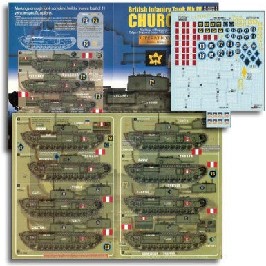 Echelon Decals 1/35 British Inf Mk IV Churchill Operation Jubilee Pt2