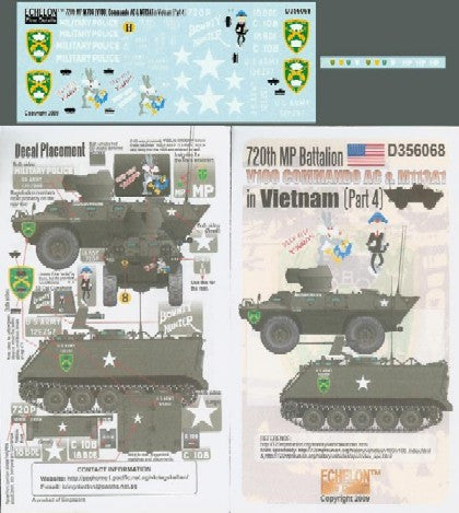Echelon Decals 1/35 720th MP Battalion V100 Commando AC & M113A1 Vietnam Pt4