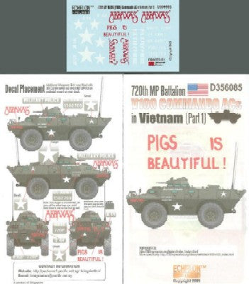 Echelon Decals 1/35 720th MP Battalion V100 Commando ACs Vietnam Pt1