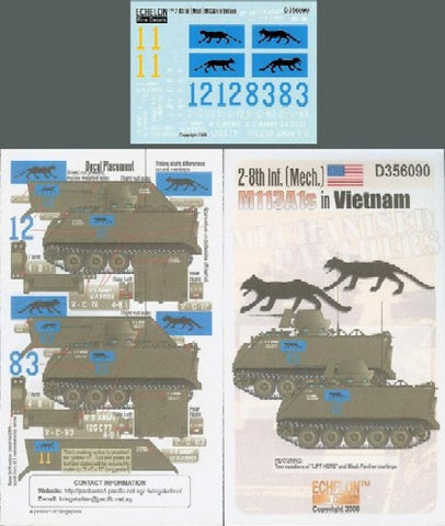Echelon Decals 1/35 2-8th Inf (Mech) M113A1s Vietnam