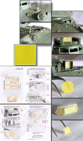 Echelon Decals 1/35 AMX30B & AUF1 155mm SPH Vision Block & Panel Masks for MGK