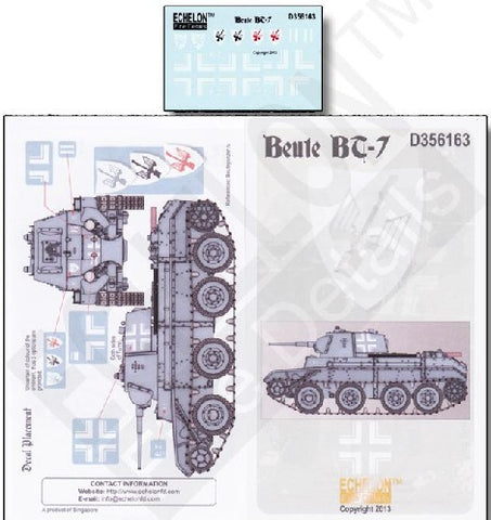 Echelon Decals 1/35 Beute BT7