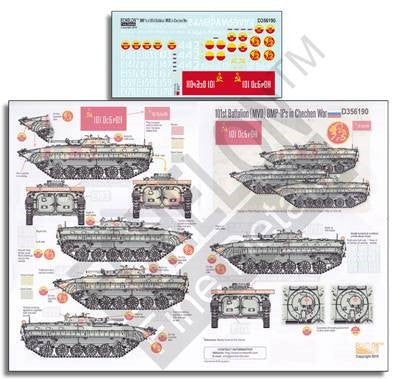 Echelon Decals 1/35 101st Battalion (MVD) BMP1Ps in Chechen War