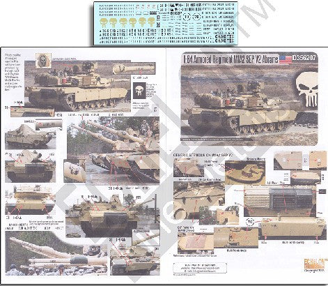 Echelon Decals 1/35 1-64th Armored Regiment M1A2 SEP V2 Abrams
