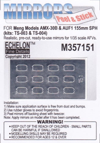 Echelon Decals 1/35 AMX30B & AUF1 155mm SPH Mirrors for MGK (Peel & Stick)